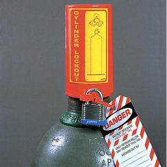 Locked gas cylinder