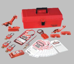Lockout/Tagout toolbox and locks